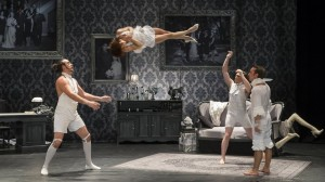 A scene from The Elephant In The Room by French company Cirque Le Roux.
