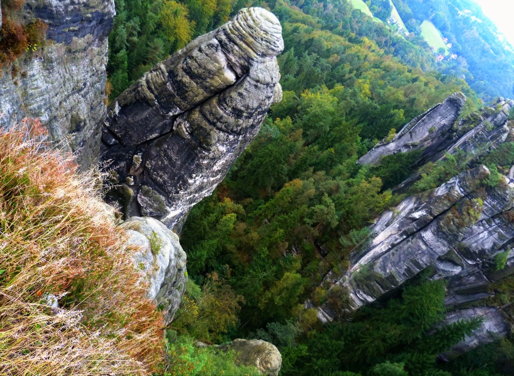 Watching your step in the Bastei: it's a long way down...