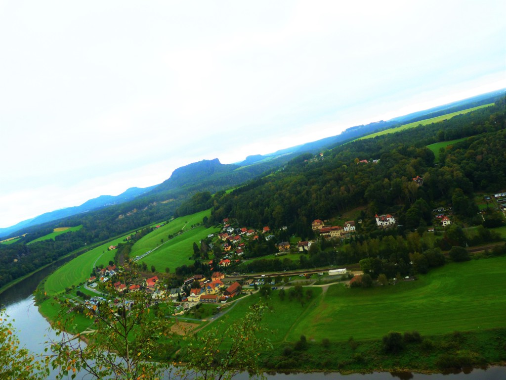 The Elbe (Labe) river valley.