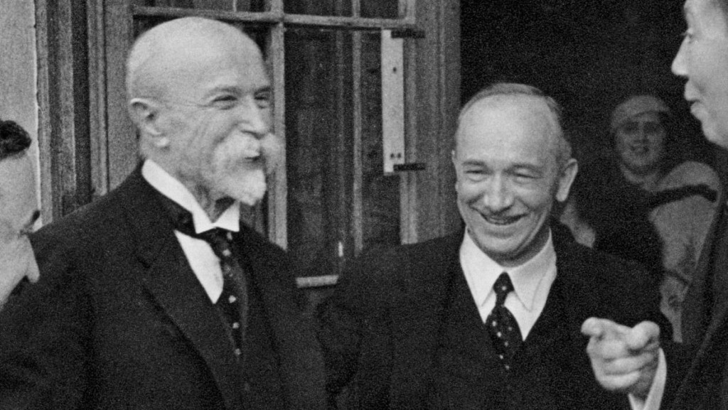 Tomáš G. Masaryk and Edvard Beneš, founders of a nation.