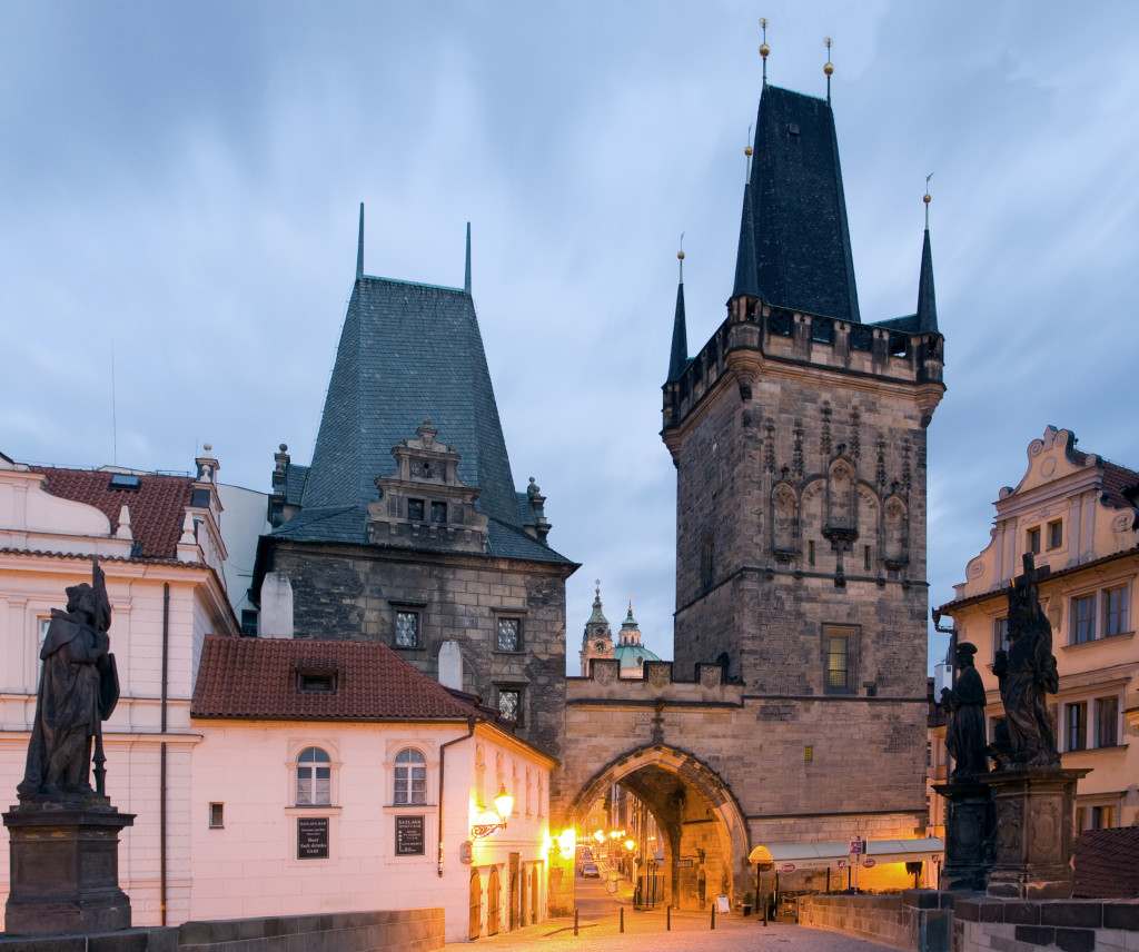 The Malá Strana end of Charles Bridge. Photo by Massimo Catarinella
