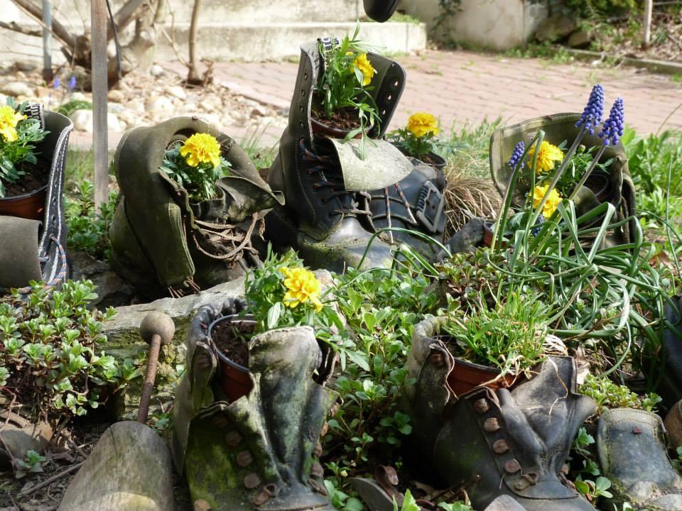 Botanical boots.