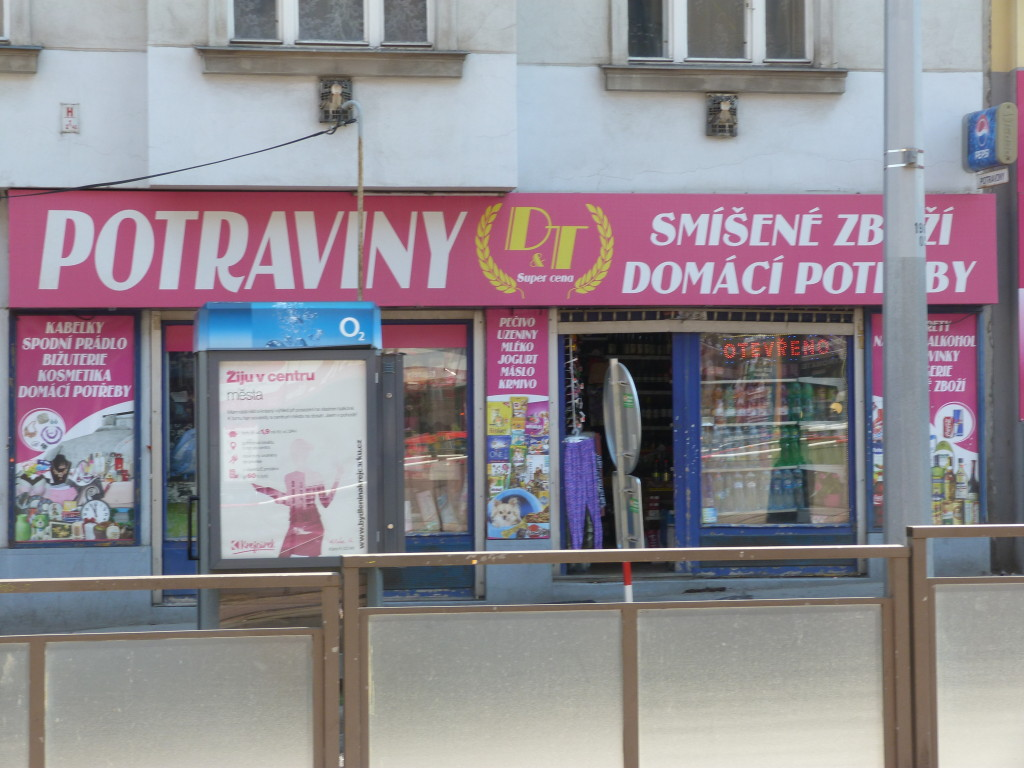 If you can't find a trafika, then look for a potraviny.