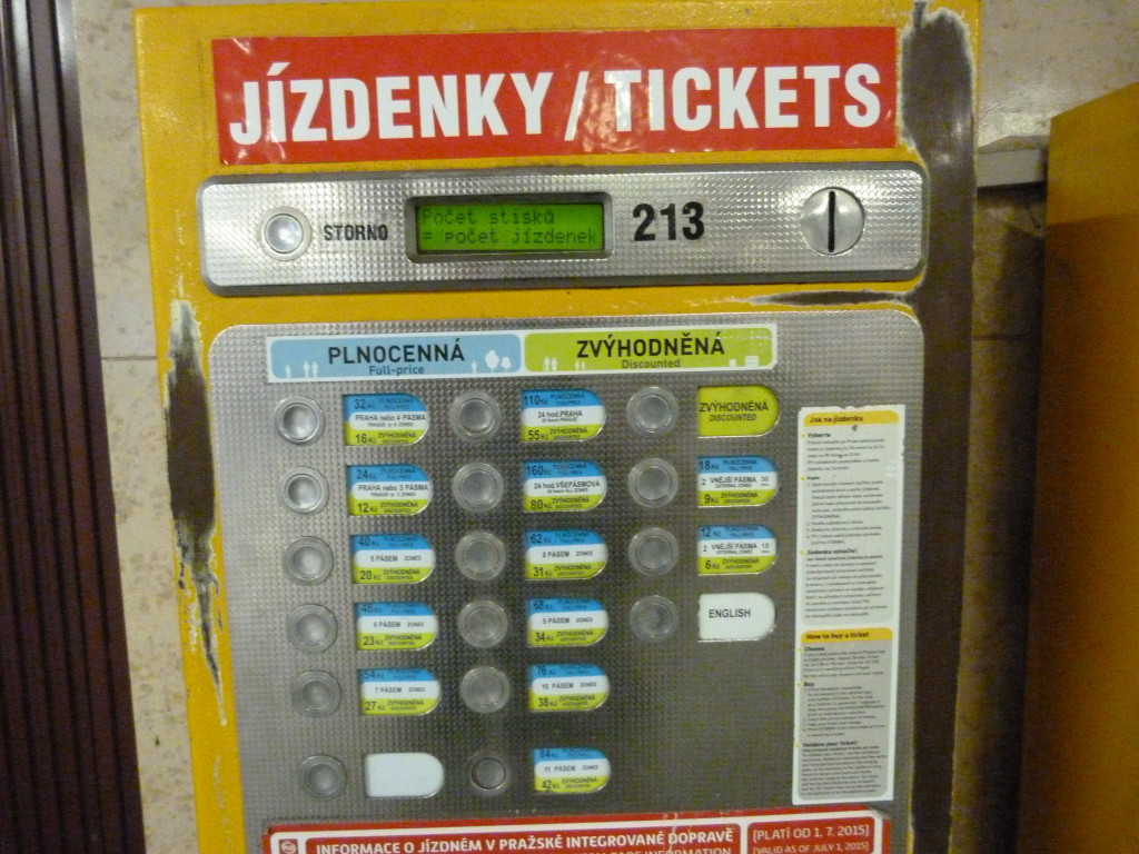 More likely, you'll be confronted with one of these dinosaurs. It only speaks Czech, but it's not as complicated as the dashboard of a space shuttle, so never fear.
