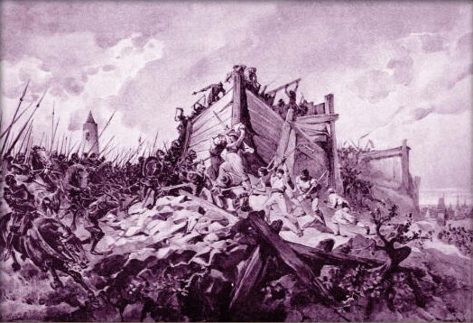 The Battle of Vitkov Hill during the Hussite Wars, by Adolf Liebscher.