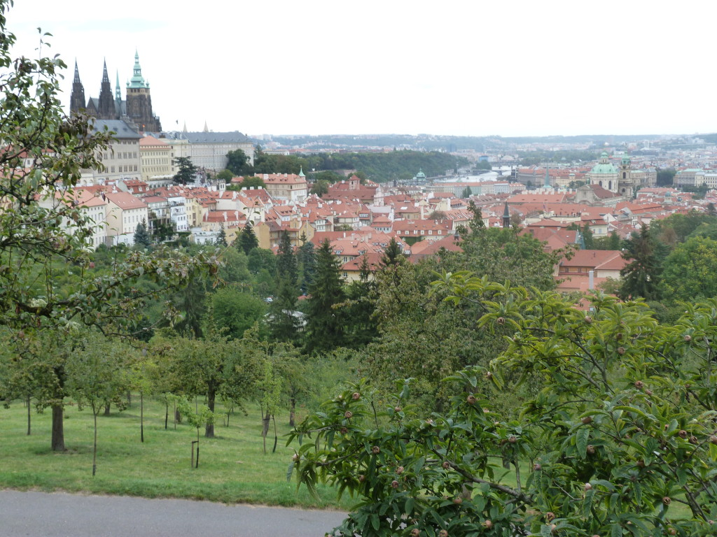 The view from Strahov Monastery looking back towards Prague Castle.