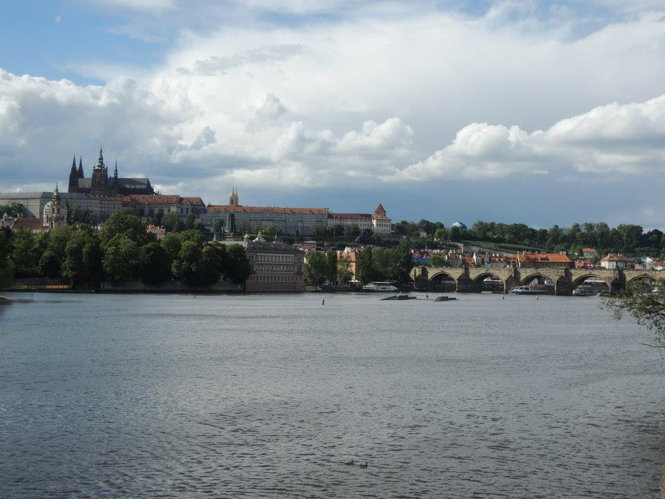 Sometimes you don't have to go up a hill at all to get some of the best views of Prague. Walking around on the banks of the river can give you some great looks too. Or rent a paddle boat on Střelecký Ostrov and admire the city from the water.