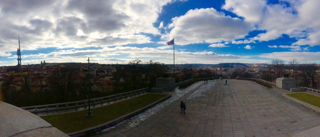 The view from the national monument on top of Vitkov.