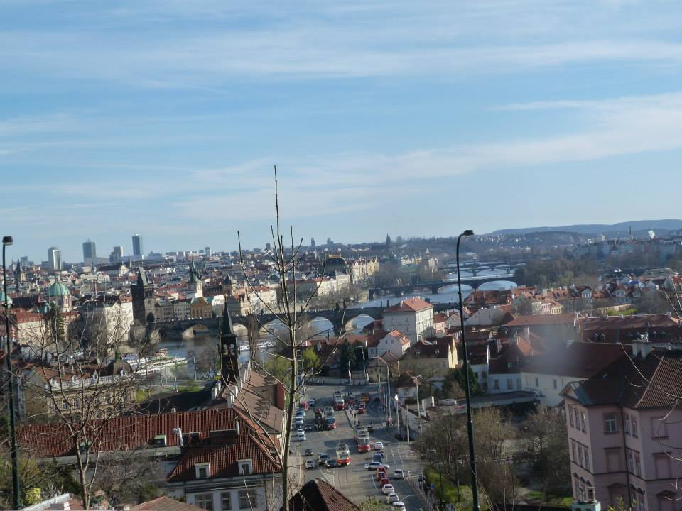 And speaking of the Prague Castle, the views from there are also spectacular. This one is from the St. Wenceslas Vineyard which is just outside the castle's east gate.