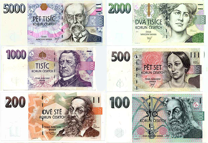 Y Czech Banknotes Much Better Than The Pedestrian Looking Euro