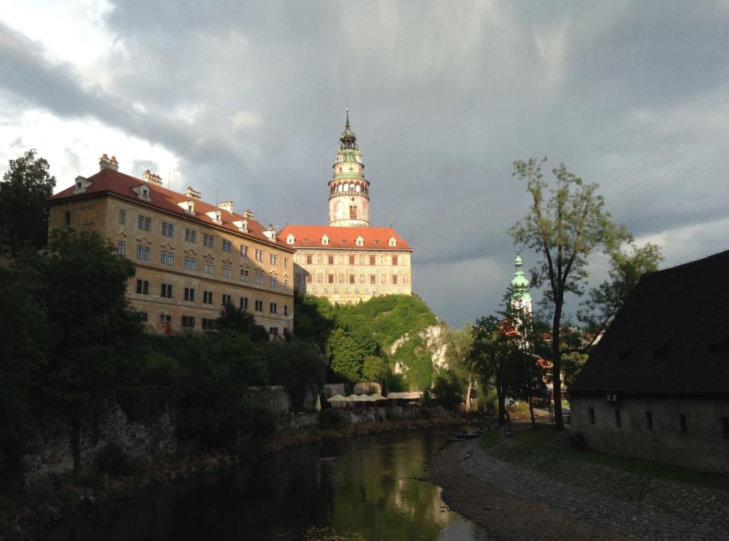 Approaching Cesky Krumlov by river