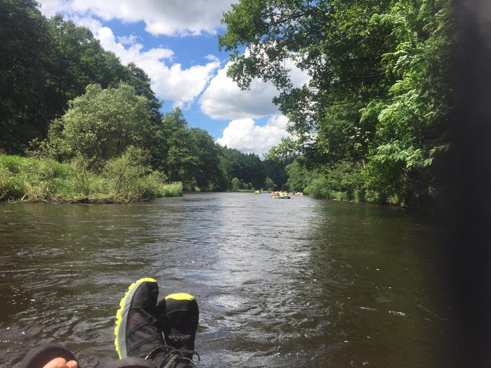 Lazy rafting on the final day
